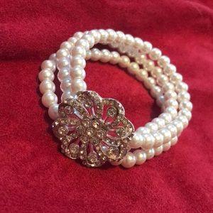 Faux Pearl Fashion Bracelet